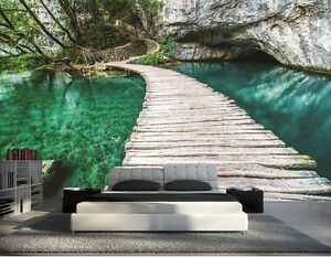 papier peint 3d trompe l 39 oeil mer photo murale relief 3d nature ebay. Black Bedroom Furniture Sets. Home Design Ideas