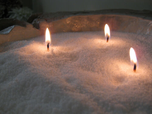 Elegance Wax Crystals 1Kg Wicks Instant Candle Pure White Wedding Table Idea