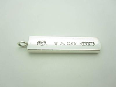 Tiffany & Co. Sterling Silver 1837 Collection Bar Pendant Or Charm