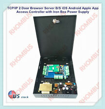 TCP/IP 2 Door Browser Server B/S iOS Android Apple App Access Controller w/Power
