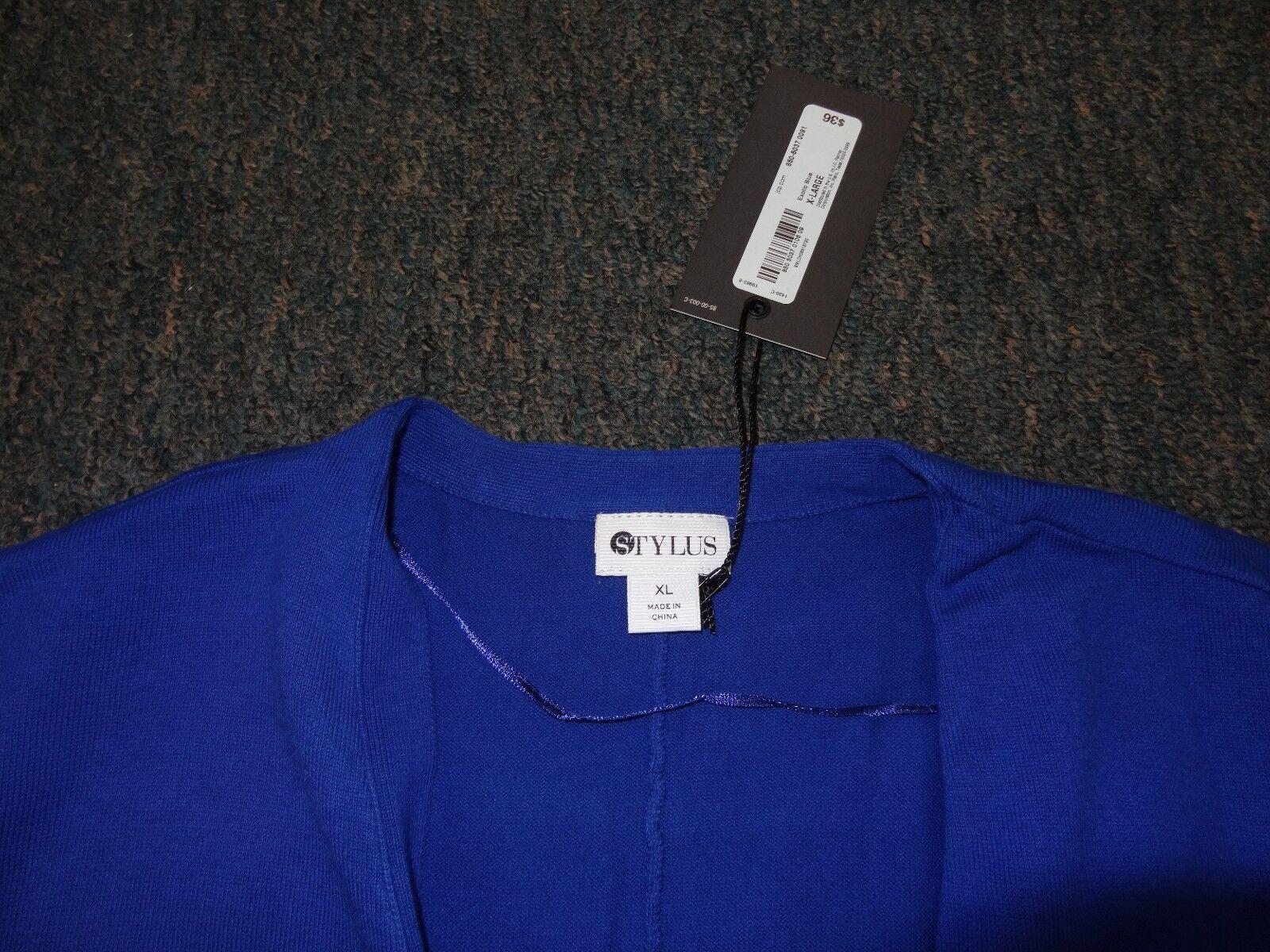 WOMENS SIZE XL XL XL ROYAL blueE DOLMAN CARDIGAN SWEATER BY STYLUS NWT 5b52ca