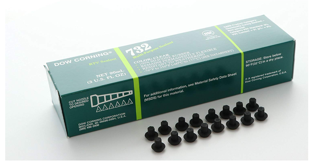 Range Grate Rubber Feet Kit 16 Pc Burner Bumper Adhesive Frigidaire Protect Cook