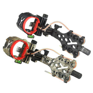 Archery-Compound-Bow-Sight-5-Pin-019-034-Long-Pole-LED-Micro-Adjustable