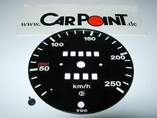 Porsche  911 914 Tacho Scheibe 250 km / h speedo face Serie 2 68-73