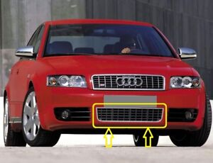 Genuine-AUDI-S4-B6-2000-2005-Front-Bumper-Lower-Center-GRILL-CHROME-BLACK