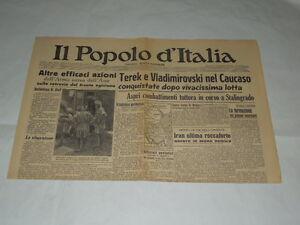 GIORNALI-DI-GUERRA-RARI-IL-POPOLO-D-039-ITALIA-TEREK-E-WLADIMIROVSKI-NEL-CAUCASO