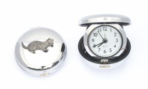Ferret Design Travel Flip Up Alarm Clock Ferreting GIft