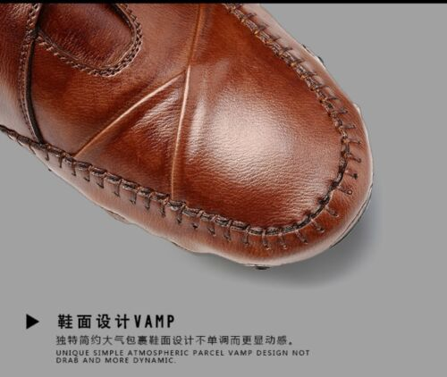 Mens Spring Autumn Soft Leather Casual Driving Boat Shoes Moccasins Unique size