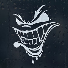 Funny Grim Reaper Smiley Bloody Dead Face Car Decal Vinyl Sticker