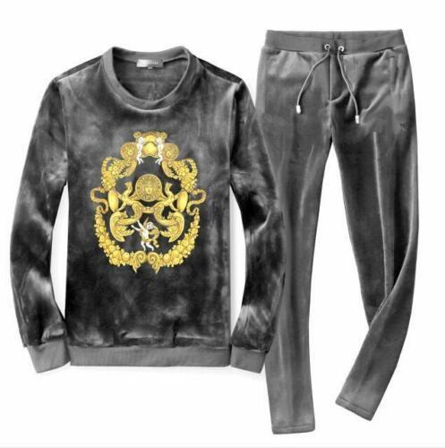 Men/'s Velour Sport Tracksuit Track Suit Jacket Coat Pants Trousers Sets Suits