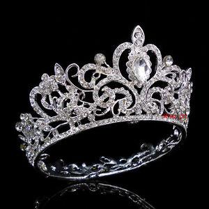 Kleidung & Accessoires Hochzeit & Besondere Anlässe 5cm Hoch Blatt Gold Hochzeit Braut Haarschmuck Haarreif Krone Diademe Tiara