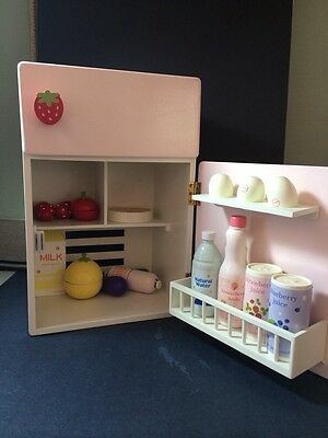 Mother Garden Wood Toy Play House Pretend Imagination Educational Refrigerator