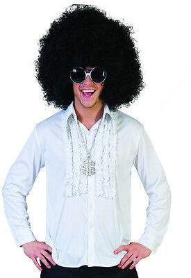 Brioso Camicia Anni 70 Bianca Tg Da 48 A 50 Piacevole Nel Dopo-Gusto