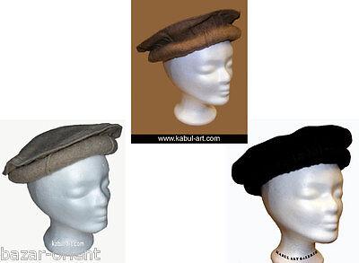 original Kopfbedeckung Pakol Mütze Afghanistan pakistan afghan hat cap Braun