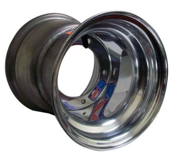 8 x 9 Douglas Polished Aluminum Wheel (Metric) Go Kart Rim Cart Parts New