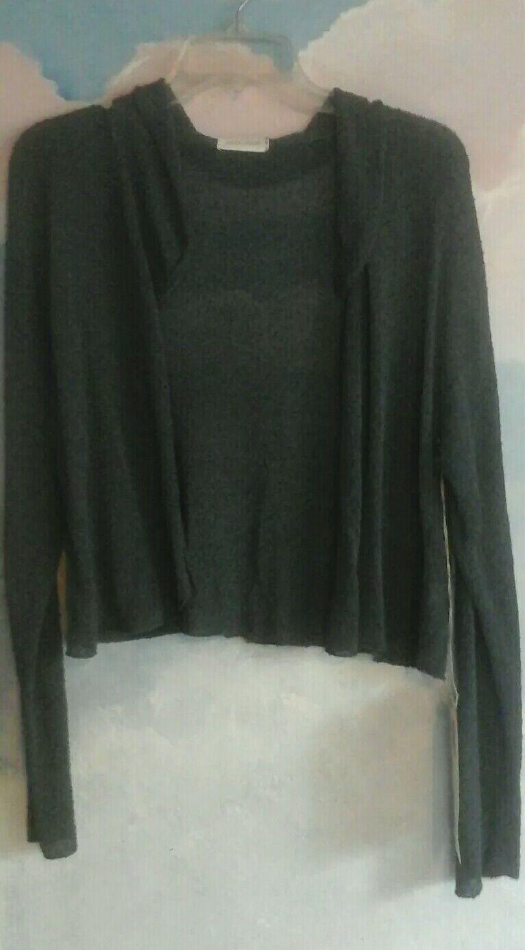 Krista Larson Pebble Cardigan In Cotton & Viscose In Blau Granite, OS