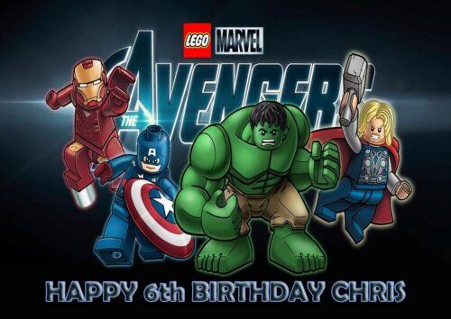 PERSONALISED Birthday Card Any Name /& Age Free P/&P LEGO MARVEL AVENGERS