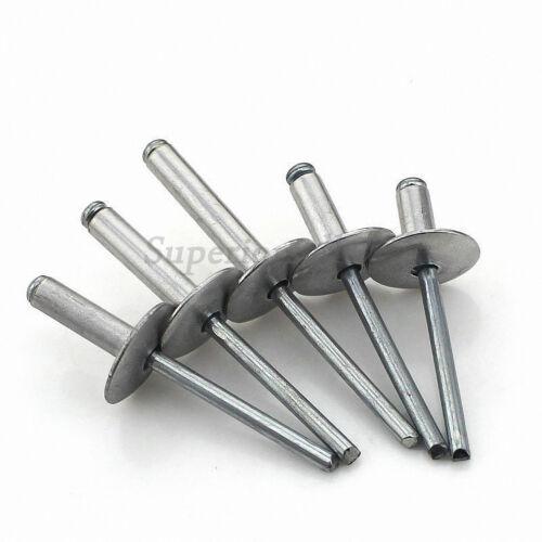 Aluminum Blind Pop Rivets Dome Head M5 Open End 5mm Diameter=16mm