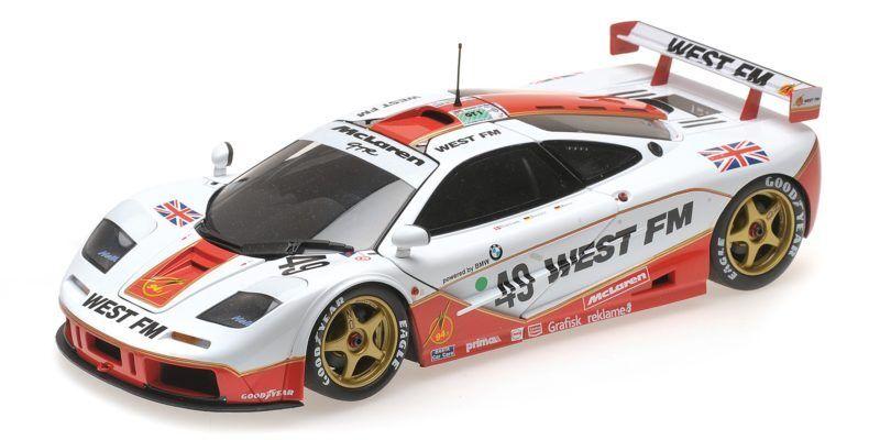 McLaren F1 Gtr West Competition Nielsen Mass Bscher 24h Le Mans 1995 1:18 Model