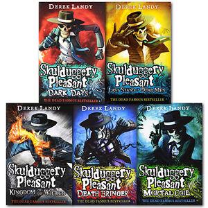 Skulduggery-Pleasant-Series-4-to-8-Derek-Landy-5-Books-Collection-Set-Brand-New