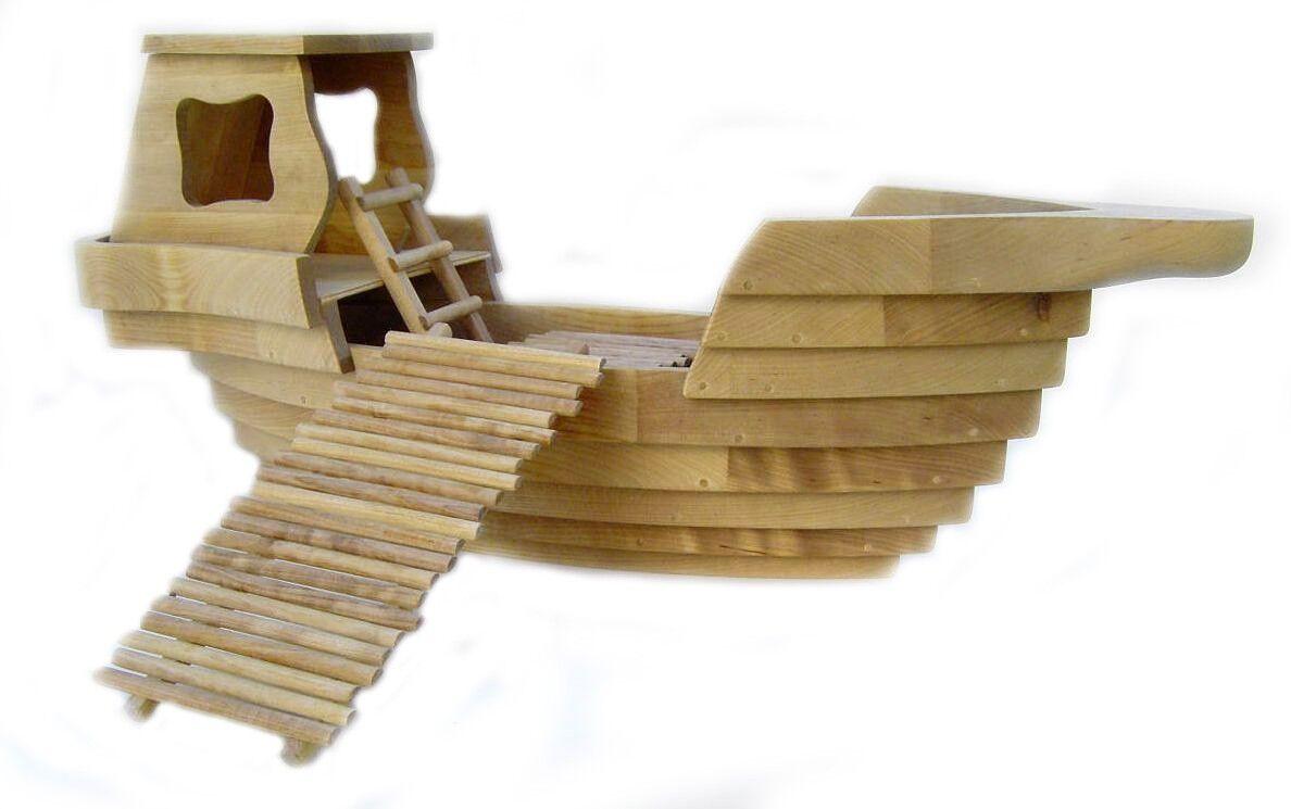 Große Arche Noah aus Holz, Dekoration aus Holz, Arche aus Holz