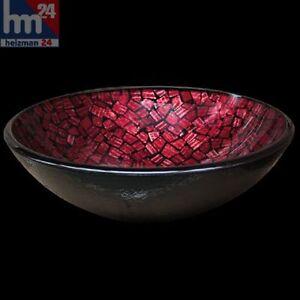 Magnacore-Aufsatzwaschbecken-Glas-Waschschuessel-rund-42-cm-Handmade
