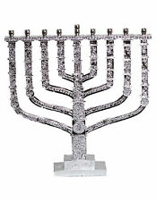 X-Large Chanukah Menorah Silver Acrylic Resin
