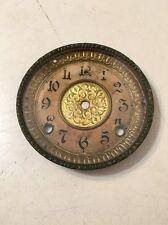 Antique Gilbert Mantle Clock Bezel Door With Glass And Dial