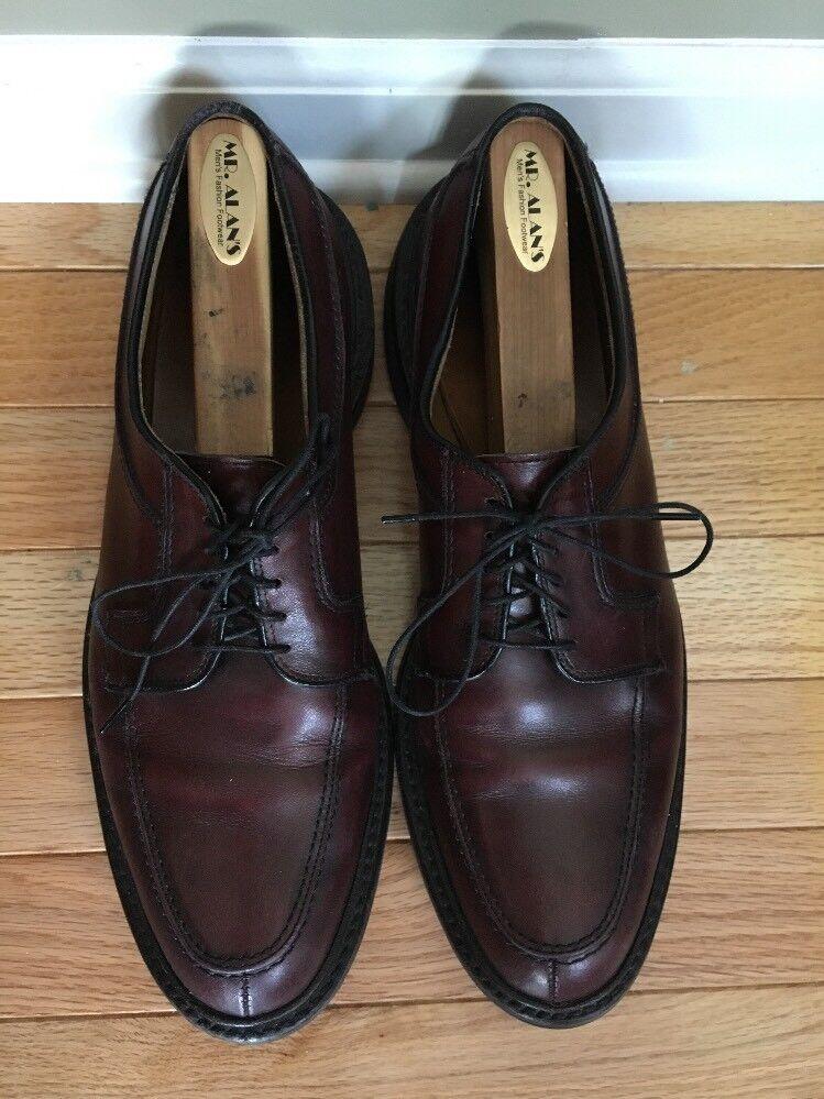 ALLEN EDMONDS NORSE BROWN LEATHER TIE new shoes SHOWS GREAT SOLES SZ 10 B