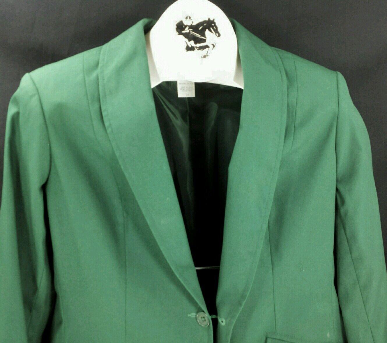 Reed Hill señoras saddleseat día Abrigo verde Oscuro poly cotton Usa