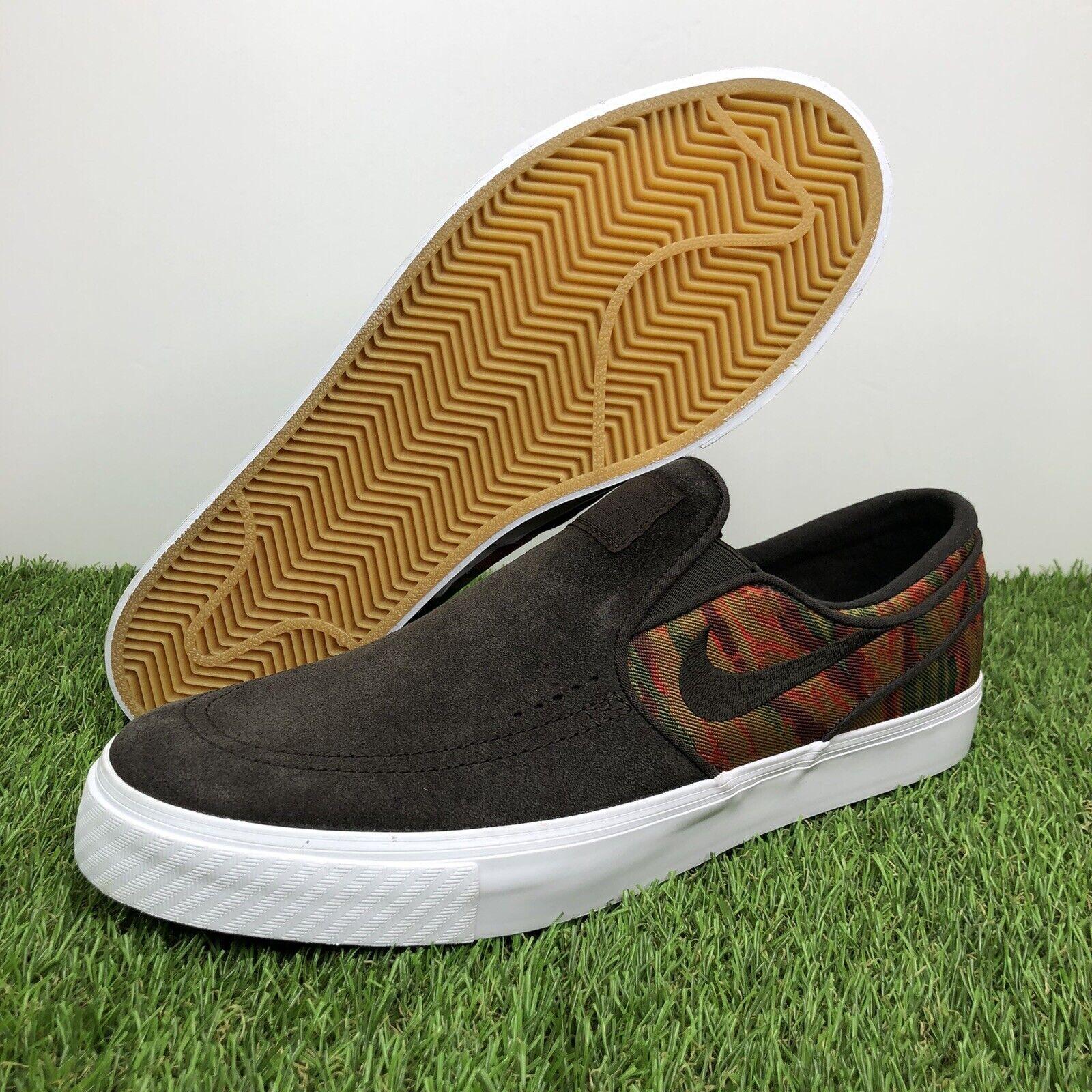 Aprendizaje Aliviar Sociable  Nike Zoom Stefan Janoski Slip Men Size 12 Canvas British Tan Brown 831749  200 for sale online | eBay