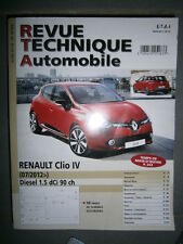 Renault CLIO IV diesel 1.5 dCi depuis 07/2012 : revue technique RTA B783