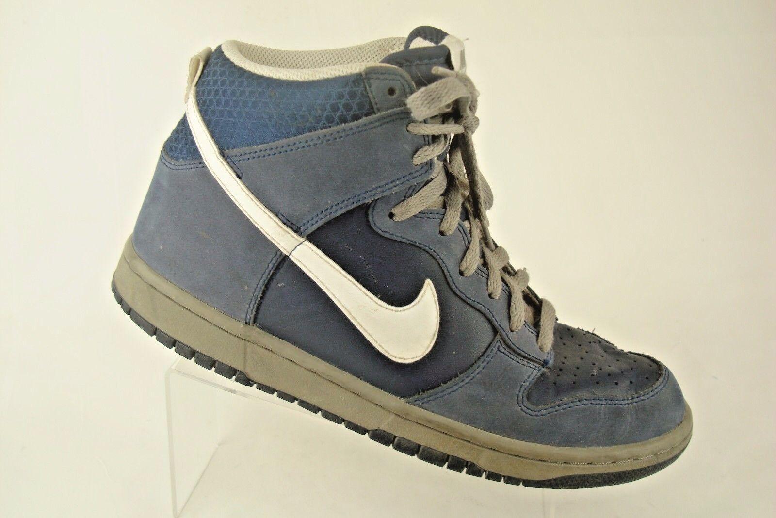 Nike Dunk alta azul marino noche Luz carbón blancoo Baloncesto Talla 8.5 317982-401