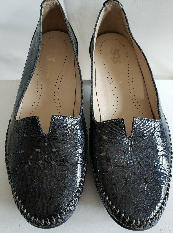 SAS Sonyo Mood Mood Mood (Blau) Patent Leather V Cutout Moc schuhe Tri Pad Comfort 9 Wide d5215b