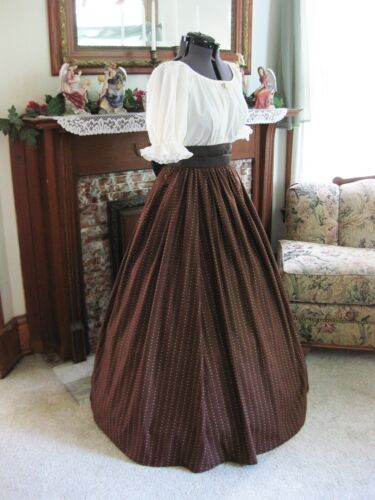 Victorian Costume Dresses & Skirts for Sale    CIVIL WAR VICTORIAN DRESS GOWN FRONTIER PIONEER WESTERN CHOOSE SIZE XS-2XL  $59.95 AT vintagedancer.com