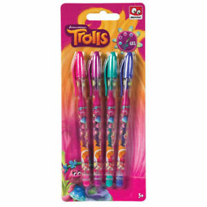 6pk Gel Pens Writing Home Office School Stationary Assorted Colours in PVC Case