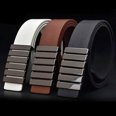 2015 New Fashion Men and Women Leather Waistband Smooth Buckle Belt Wide Belts