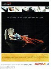 PUBLICITE ADVERTISING 126  2005  Iberia  compagnie aérienne classe Buisness plus