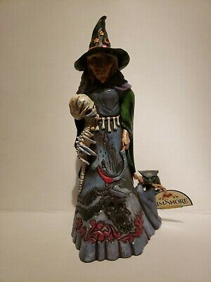 Jim Shore Halloween Spooky Evil Witch w//Skull Goblin Demon DARKNESS LIVES WITHIN