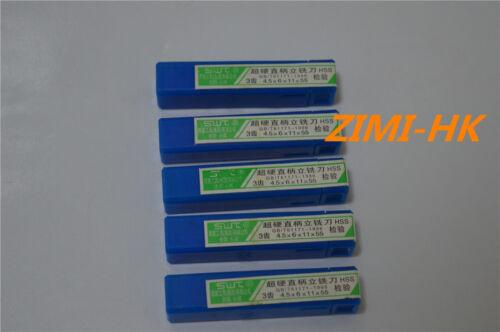 SWT 5pcs  4.5mm 3Flute HSS /& Aluminium End Mill Cutter CNC ( 4.5×6×11×55mm×3F )
