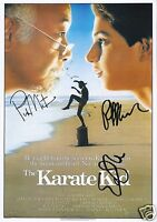THE KARATE KID CAST OF 3 AUTOGRAPH SIGNED PP PHOTO POSTER