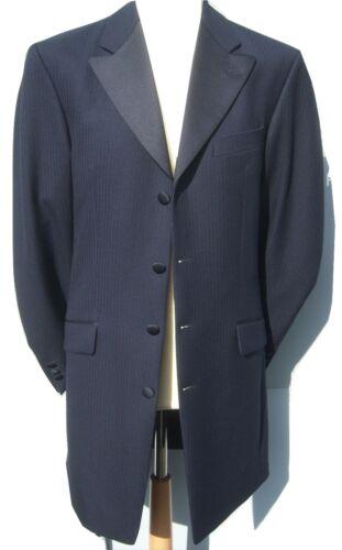 NAVY BLUE PRINCE EDWARD COAT WEDDING 3//4 DRAPE JACKET GOTHIC GOTH STEAMPUNK
