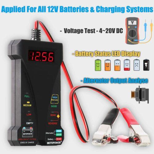 Mp0514a 12V Digital Car Battery Tester De Voltimetro Y Sistema De Carga A