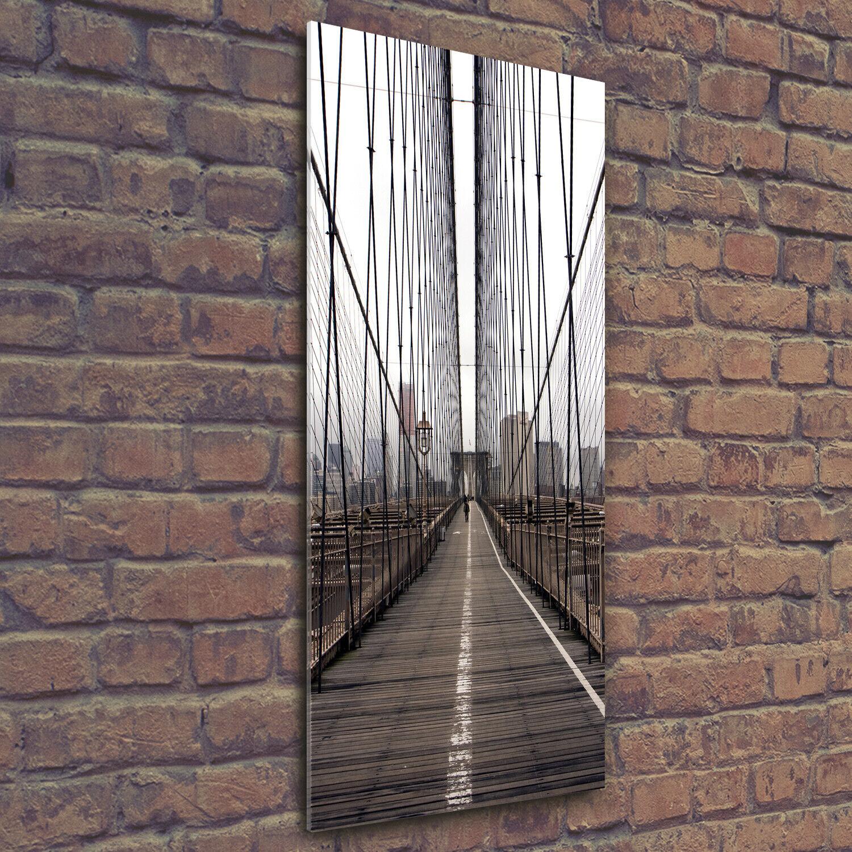 Wandbild Druck auf Plexiglas® Acryl Hochformat 50x125 Brooklyn-Brücke