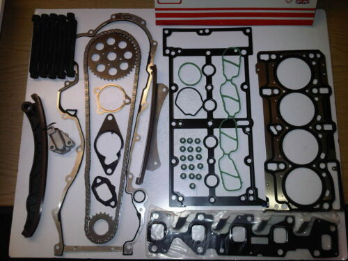 FIAT IDEA PUNTO 1.3 JTD DIESEL TIMING CHAIN KIT INC HEAD GASKET SET /& HEAD BOLTS