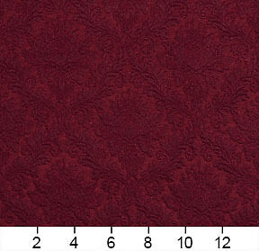 E536 Burgundy Floral Durable Jacquard Upholstery Grade Fabric By The Yard