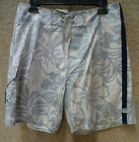 Honolua Men's Board Shorts -- Color White/blue , Size 32 To 34