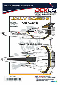 Decals-Colonial-Viper-039-Jolly-Rogers-039-CAG-Scheme-1-32-Scale
