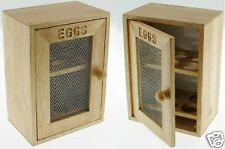 WOODEN 2 TIER CHICKEN EGG HOLDER CUPBOARD CABINET KITCHEN STORAGE WOOD RACK