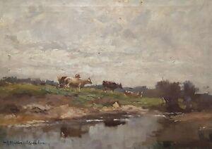 Fritz-Muller-schwaben-1879-1957-Vaches-sur-un-Paturage